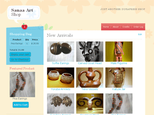 Free WordPress e-Commerce Theme: Sanaa