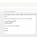DukaPress Email Settings - user registration to customer