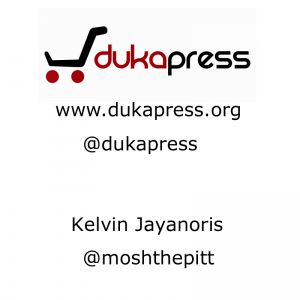 The only slide that we used - DukaPress at WordCamp 2011